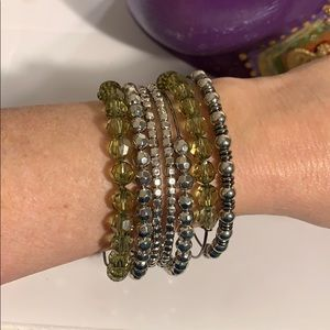 New 7 piece wire and beads Nordstrom bracelet set